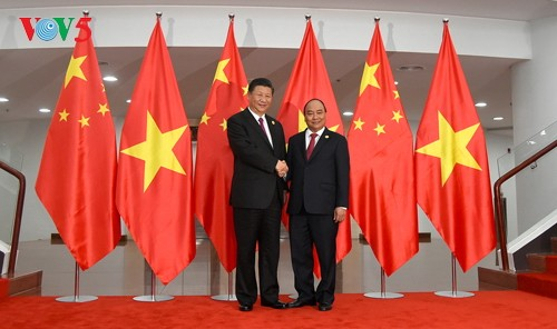 Thủ tướng Việt Nam Nguyễn Xuân Phúc hội kiến với Tổng Bí thư, Chủ tịch Trung Quốc Tập Cận Bình - ảnh 1