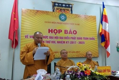 Họp báo giới thiệu Đại hội đại biểu Phật giáo toàn quốc lần thứ VIII  - ảnh 1