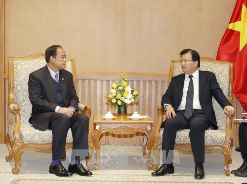 Phó Thủ tướng Trịnh Đình Dũng tiếp Chủ tịch Hội Hữu nghị Myanmar – Việt Nam U Tint Swai - ảnh 1