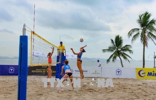 Nhật Bản vô địch giải bóng chuyền bãi biển nữ thế giới Tuần Châu - Hạ Long mở rộng 2018  - ảnh 1