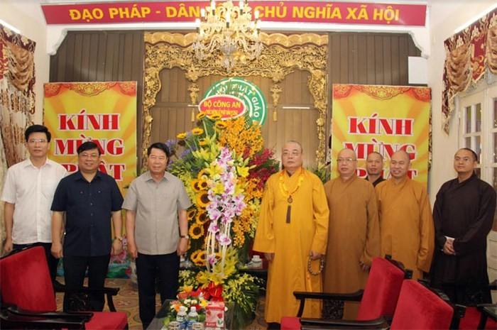 Bộ Công an chúc mừng Giáo hội Phật giáo Việt Nam nhân mùa Phật đản, phật lịch 2562 - ảnh 1