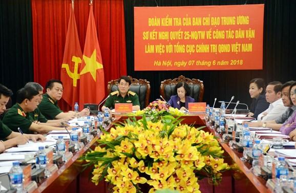"""Trưởng Ban Dân vận TƯ Trương Thị Mai: Công tác dân vận trong Quân đội luôn """"thực tâm, thực chất"""" - ảnh 1"""