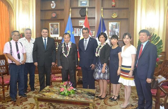Thứ trưởng Bộ Ngoại giao Vũ Hồng Nam thăm Tahiti - ảnh 1