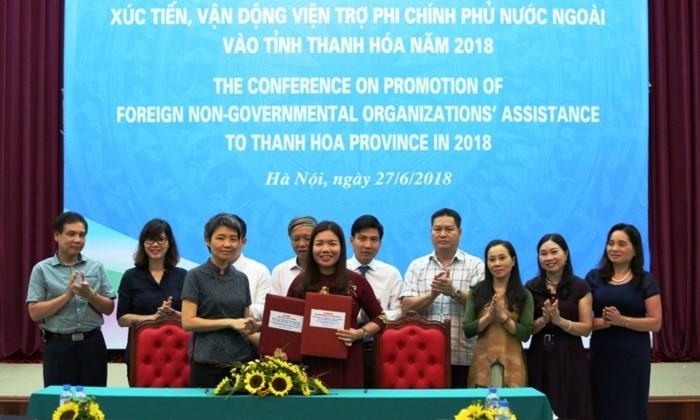 Vận động viện trợ phi chính phủ nước ngoài vào tỉnh Thanh Hóa - ảnh 1