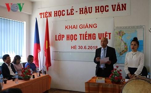 Khai giảng lớp học tiếng Việt mùa Hè tại Cộng hòa Séc - ảnh 1
