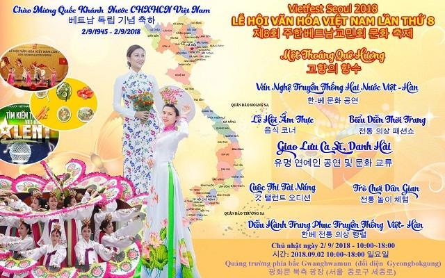 Sắp diễn ra Lễ hội văn hóa Việt Nam lần thứ 8 tại Hàn Quốc - ảnh 1