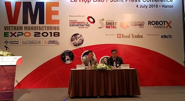 20 quốc gia, vùng lãnh thổ tham gia Triển lãm Vietnam Manufaturing Expo 2018 - ảnh 1