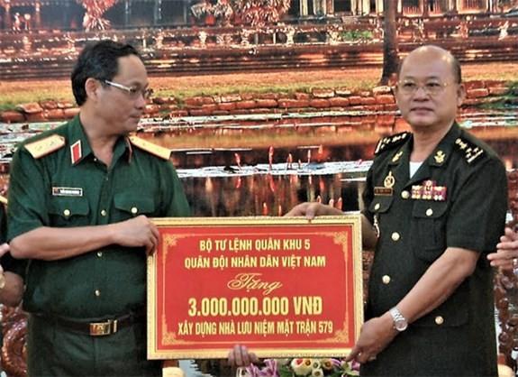 Khởi công xây dựng Khu lưu niệm Bộ Tư lệnh Mặt trận 579 (Campuchia) - ảnh 1