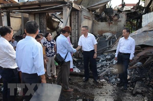 Xóm Việt kiều tại Campuchia hồi sinh sau hỏa hoạn - ảnh 1