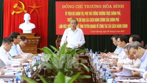 Phó Thủ tướng Thường trực Chính phủ Trương Hòa Bình làm việc tại Tuyên Quang - ảnh 1