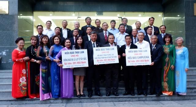 Kiều bào Thái Lan ủng hộ đồng bào ta gặp khó khăn do thiên tai - ảnh 1