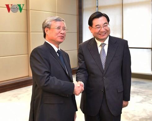Thường trực Ban Bí thư Trần Quốc Vượng thăm và làm việc tại tỉnh Thiểm Tây, Trung Quốc - ảnh 1