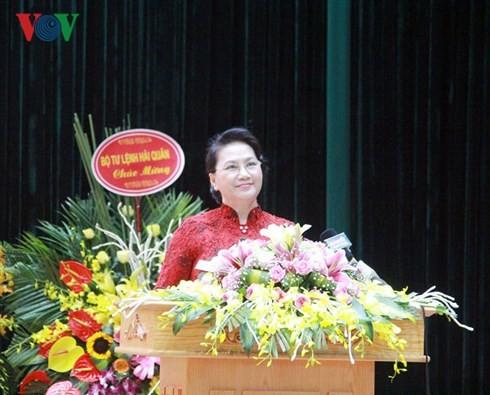 Chủ tịch Quốc hội dự Lễ kỷ niệm 20 năm Ngày truyền thống Cảnh sát biển Việt Nam - ảnh 2