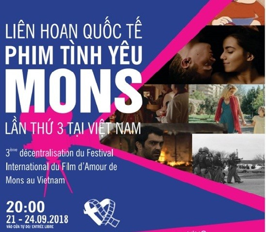 Liên hoan Quốc tế Phim Tình yêu Mons lần thứ 3 tại Việt Nam - ảnh 1