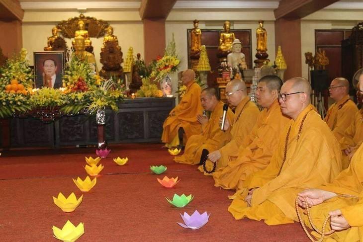 Chư tăng, phật tử Lào – Việt tại Lào cầu siêu, tưởng niệm Chủ tịch nước Trần Đại Quang - ảnh 3