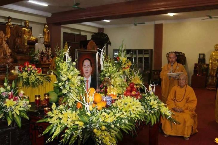 Chư tăng, phật tử Lào – Việt tại Lào cầu siêu, tưởng niệm Chủ tịch nước Trần Đại Quang - ảnh 6