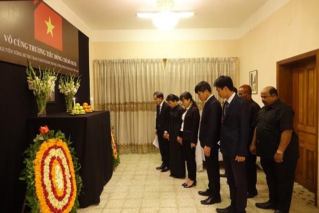 Đại sứ quán Việt Nam tại Bangladesh tổ chức Lễ viếng và mở Sổ tang nguyên Tổng Bí thư Đỗ Mười - ảnh 2