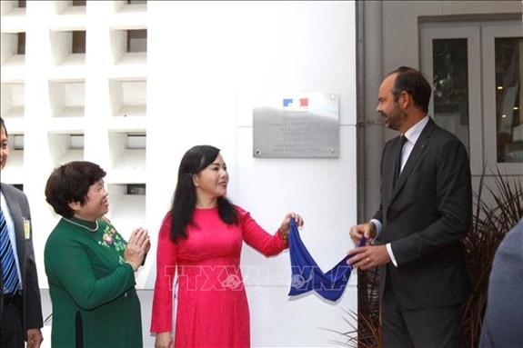 Thủ tướng Pháp dự lễ khai trương Trung tâm Y tế Pháp tại Thành phố Hồ Chí Minh    - ảnh 1