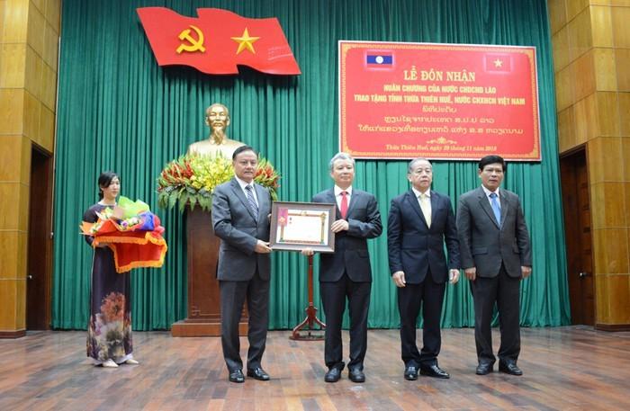 Thừa Thiên - Huế nhận Huân chương Lao động hạng Nhất của Chủ tịch nước CHDCND Lào - ảnh 1