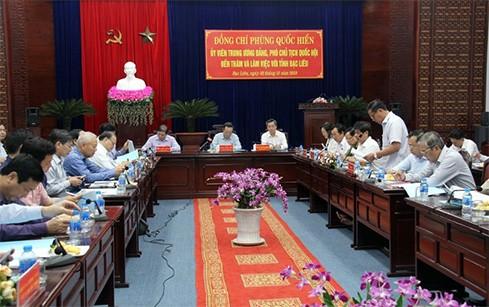 Phó Chủ tịch Quốc hội Phùng Quốc Hiển làm việc với tỉnh Bạc Liêu - ảnh 1