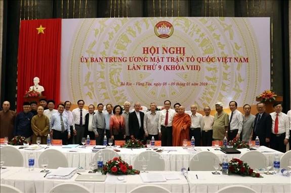 Hội nghị Ủy ban Trung ương Mặt trận Tổ quốc Việt Nam lần thứ 9  - ảnh 1