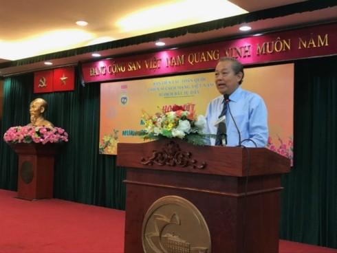 Phó Thủ tướng Trương Hoà Bình gặp mặt các chiến sỹ cách mạng bị địch bắt tù đày - ảnh 1