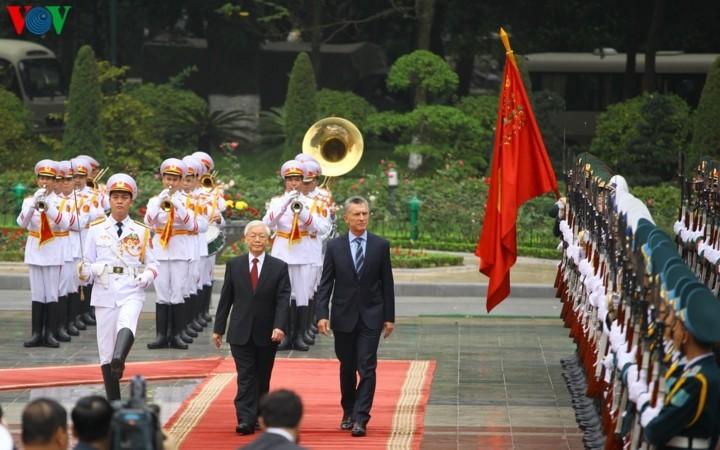Tổng thống Cộng hòa Argentina Mauricio Macri và Phu nhân thăm cấp Nhà nước tới Việt Nam - ảnh 1