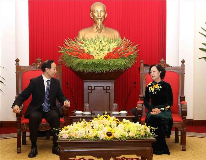 Trưởng Ban Dân vận Trung ương Trương Thị Mai tiếp Đoàn đại biểu Quỹ Tống Khánh Linh - ảnh 1
