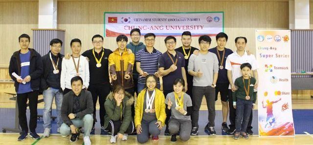 Sinh viên các trường đại học ở Hàn Quốc sôi nổi tham gia giải cầu lông Chung-Ang mở rộng 2019 - ảnh 1