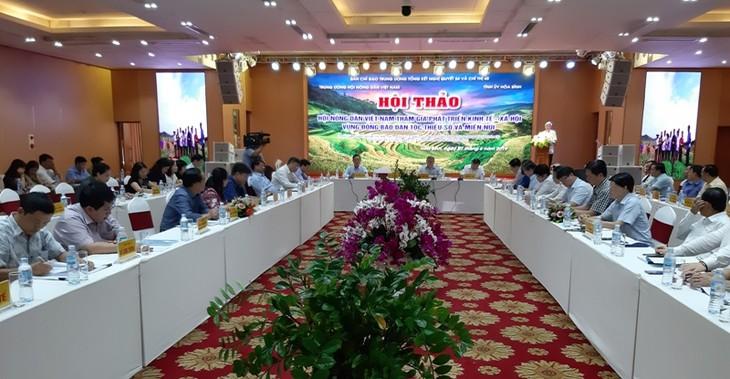 """Hội thảo """"Hội nông dân Việt Nam tham gia phát triển kinh tế- xã hội vùng đồng bào dân tộc thiểu số và miền núi"""" - ảnh 1"""