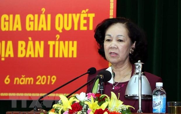 Trưởng ban Dân vận Trung ương Trương Thị Mai: Đặt quyền lợi người dân lên đầu khi giải quyết các vụ việc phức tạp - ảnh 1