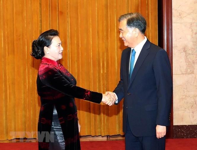 Chủ tịch Quốc hội Nguyễn Thị Kim Ngân hội kiến Chủ tịch Chính hiệp Trung Quốc Uông Dương - ảnh 1