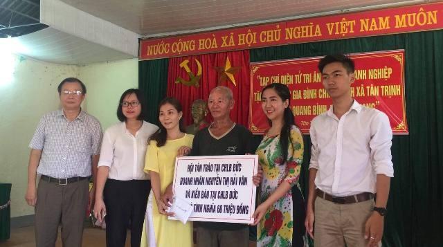 Hội Tân Trào tại CHLB Đức tặng nhà tình nghĩa tại Hà Giang - ảnh 1