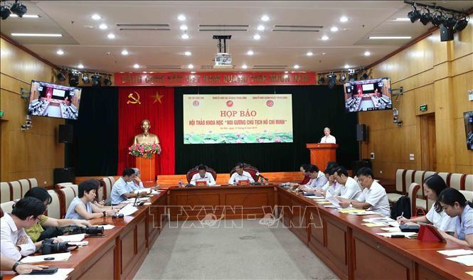 Giới thiệu hội thảo khoa học noi gương Chủ tịch Hồ Chí Minh - ảnh 1