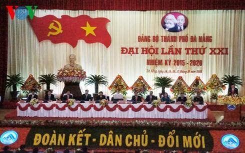 Партийные конференции города Дананг и провинций Хаузянг, Чавинь, Биньдинь и Виньфук - ảnh 2