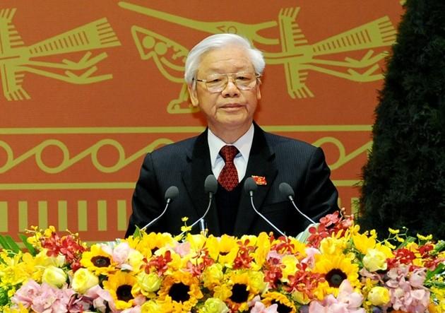 В Ханое завершился 12-й съезд Коммунистической партии Вьетнама - ảnh 1