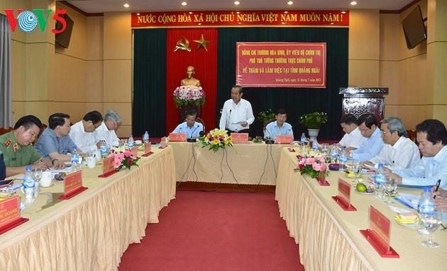 Вице-премьер Чыонг Хоа Бинь совершил рабочую поездку в провинцию Куангнгай - ảnh 1