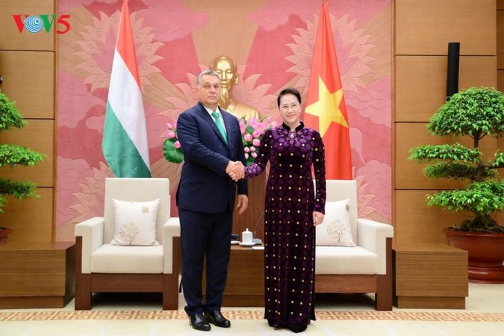 Председатель НС СРВ Нгуен Тхи Ким Нган приняла премьера Венгрии Виктора Орбана - ảnh 1