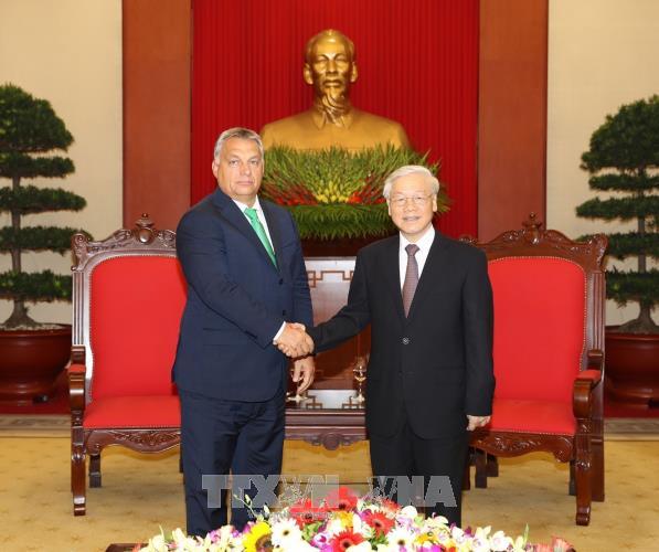 Генсек ЦК КПВ Нгуен Фу Чонг принял премьер-министра Венгрии Виктора Орбана - ảnh 1