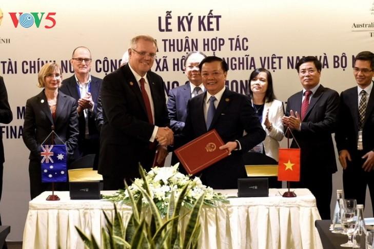 Минфин Вьетнама и Казначейство Австралии подписали меморандум о сотрудничестве - ảnh 1
