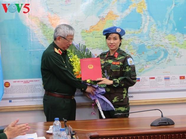 Вьетнам направил первую женщину-офицера на участие в миротворческой деятельности ООН - ảnh 1