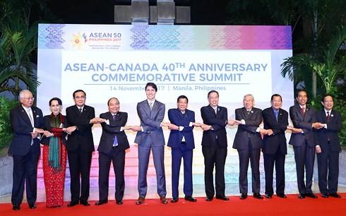 Нгуен Суан Фук принял участие в саммитах, посвящённых 40-летию отношений АСЕАН-Канада и АСЕАН-ЕС - ảnh 1