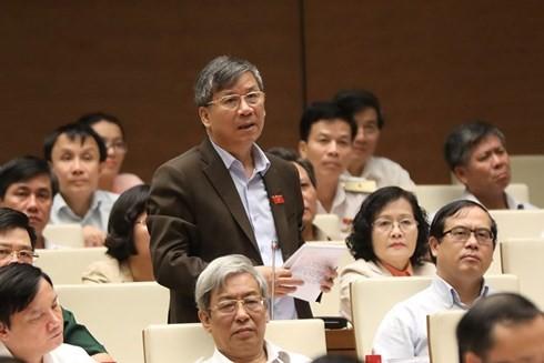 Министр природных ресурсов и экологии СРВ Чан Хонг Ха отвечал на запросы депутатов - ảnh 2