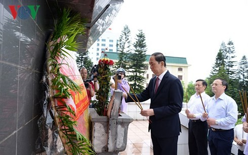 Президент Вьетнама совершил рабочую поездку в провинцию Хынгйен - ảnh 1