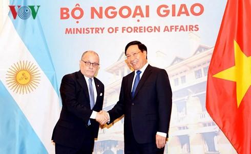В Ханое прошли переговоры между главами МИД Вьетнама и Аргентины - ảnh 1