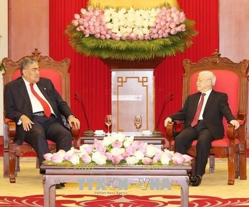 Глава Компартии Вьетнама принял делегацию Объединенного левого движения ДР - ảnh 1