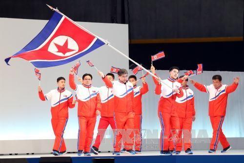 สาธารณรัฐเกาหลีแสดงความยินดีต่อเปียงยางที่เข้าร่วมการแข่งขันกีฬาโอลิมปิกฤดูหนาวปี๒๐๑๘ - ảnh 1