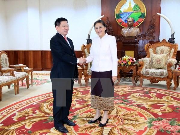 ผู้นำรัฐสภาและรัฐบาลลาวชื่นชมความช่วยเหลือของหน่วยงานตรวจเงินแผ่นดินแห่งรัฐเวียดนาม - ảnh 1