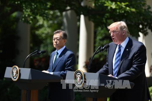 สหรัฐและสาธารณรัฐเกาหลีให้คำมั่นที่จะผลักดันความสัมพันธ์พันธมิตร - ảnh 1