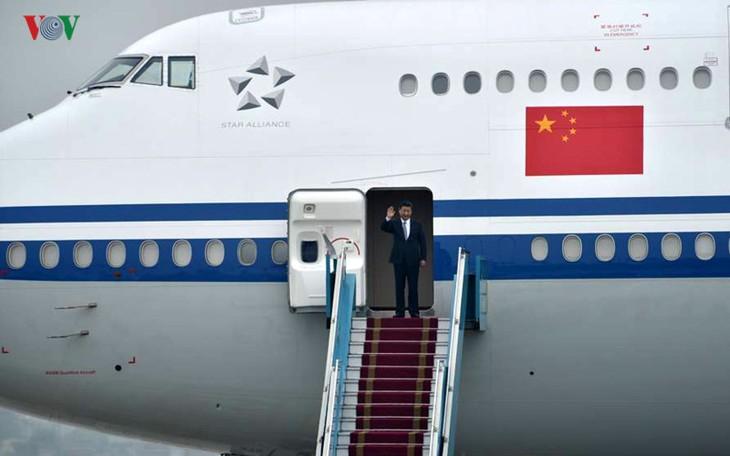 เลขาธิการใหญ่พรรคและประธานประเทศจีนเริ่มการเยือนเวียดนามอย่างเป็นทางการ - ảnh 1